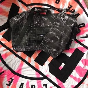 Victoria's Secret Pink leggings and tote